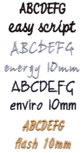 lettering styles. Embroidered Lettering Styles